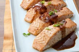 Maple-Balsamic Salmon Fillets recipe