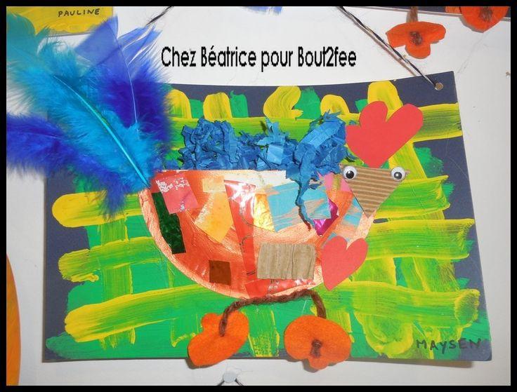 Poulettes colorées