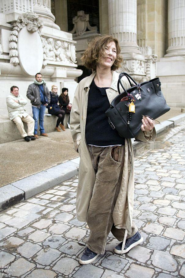 "Jane Birkin -Paris..The woman who insired Hermes to design the ""Birkin Bag"""