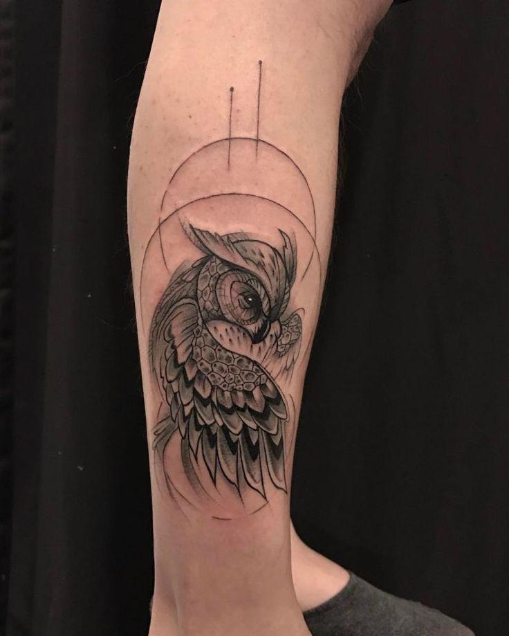 50 der schönsten Eulen Tattoo Designs und ihre Bedeutung für die Nacht …   – Eulen Tattoos