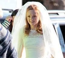 Image result for glee emma wedding dress