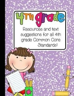 Huge Freebie!!! This file contains hundreds of free resources, paid product suggestions, and book titles to keep your 4th graders engaged, motivated, and having fun while learning! Everything is aligned to the Common Core State Standards. All standards are included!