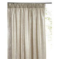 CURTAIN IN METALLICISED LINEN WITH RUFLETTE MOUNT