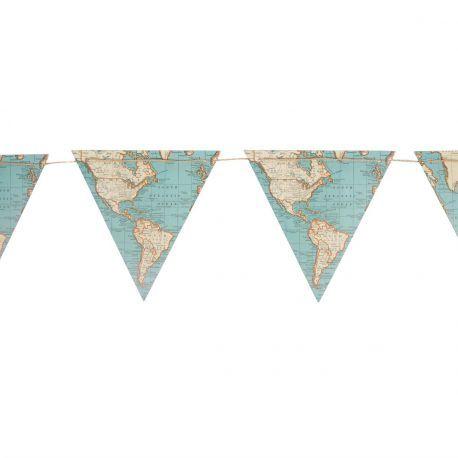 La guirlande fanions carte géographique
