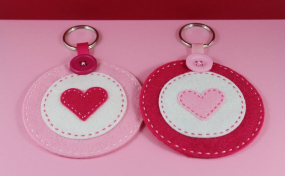Valentine Felt Lip Balm Holder and Keychain