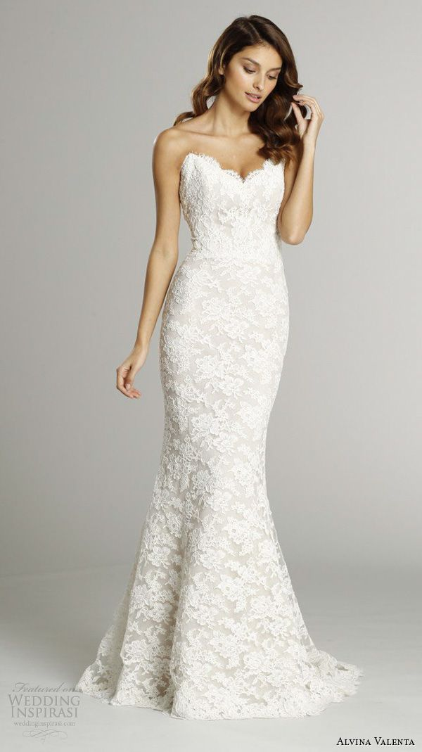White trumpet wedding dress