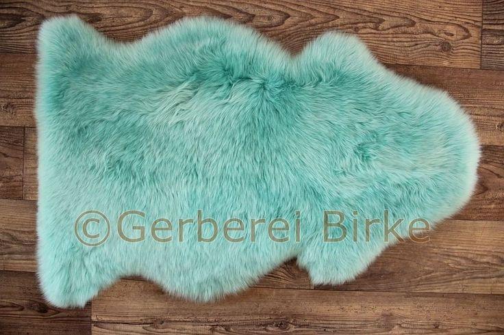 Lammfell Schaf Fell gefärbt (Türkis) waschbar von der Gerberei Birke in Möbel & Wohnen, Teppiche & Teppichböden, Felle & Kunstfelle | eBay!