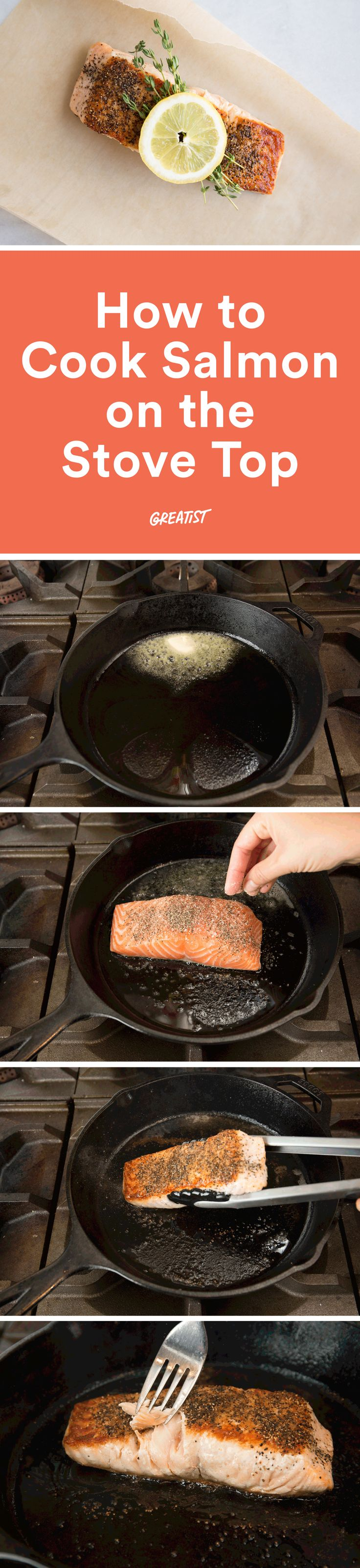 Your shortcuts to a healthy, delicious, and ridiculously easy weeknight meal. http://greatist.com/eat/how-to-cook-salmon