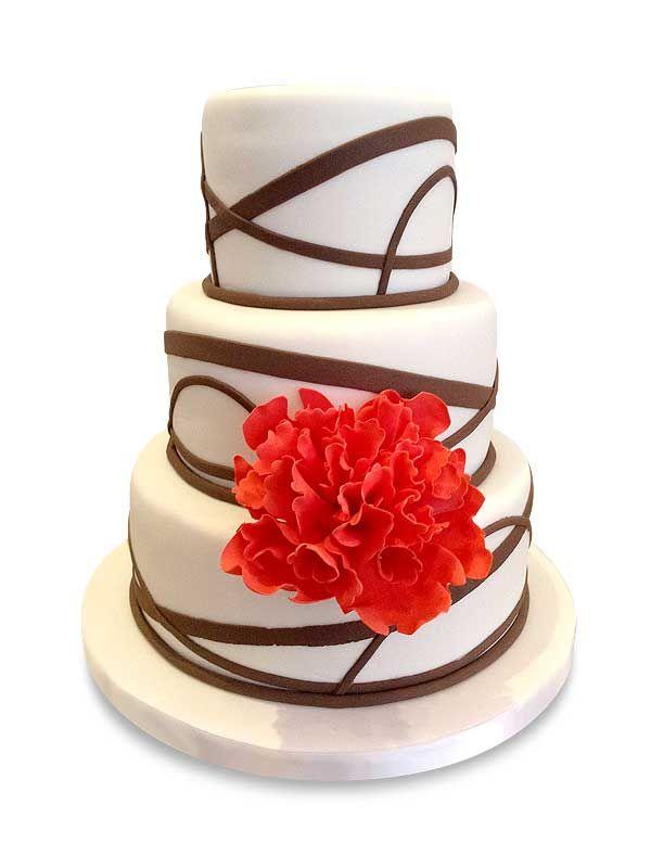 PuurTaart :: Taartengalerij - Bruidstaart - Wedding cake Chocolat-string