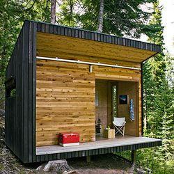 Prefab Woodshop Green Roof Sheds | Modern Off Grid Signal Shed In Oregon U2014  LiveModern