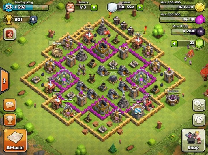728 x 546 · 207 kB · jpeg, FreeAppsKing - Clash Of Clans Village - Level 53 - Clash Of Clans .