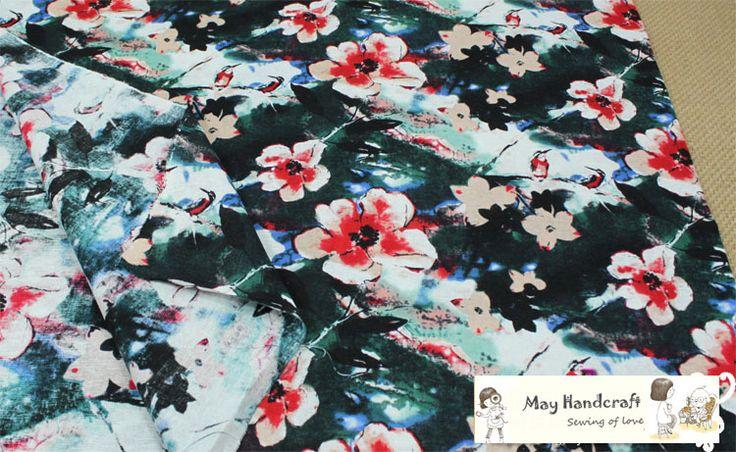 Aliexpress.com: Comprar Batik flores del ciruelo impreso suave tela de algodón de lino de la costura cortina de tela decoraciones hechos a mano 50 x 140 cm 1 unids/lote de flor de malla de tela fiable proveedores en May Handcraft Workshop (Retail & Wholesale)