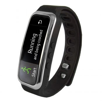 "Supersonic 0.91"" Fitness Wristband With Bluetooth Pedometer, Calorie Counter and More-Black - myaccessoryguy"