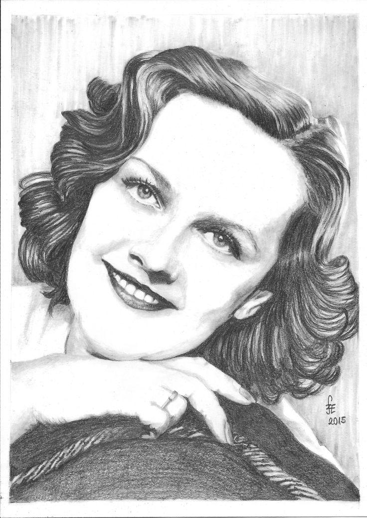 Pencil drawing portrait Tolnai Klári by Erika Székesvári https://www.facebook.com/ercziart/