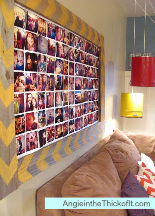 Instagram Photo Collage with Pallet Frame