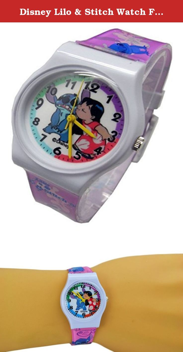 "Disney Lilo & Stitch Watch For Kids .Large Analog Dial. 9""L Band. Disney Lilo & Stitch Wrist Watch For Kids .Large Analog Dial. 9""L Band. WITHSTANDS RAIN AND SPLASHES OF WATER BUT NOT SHOWERING OR SUBMERSION."