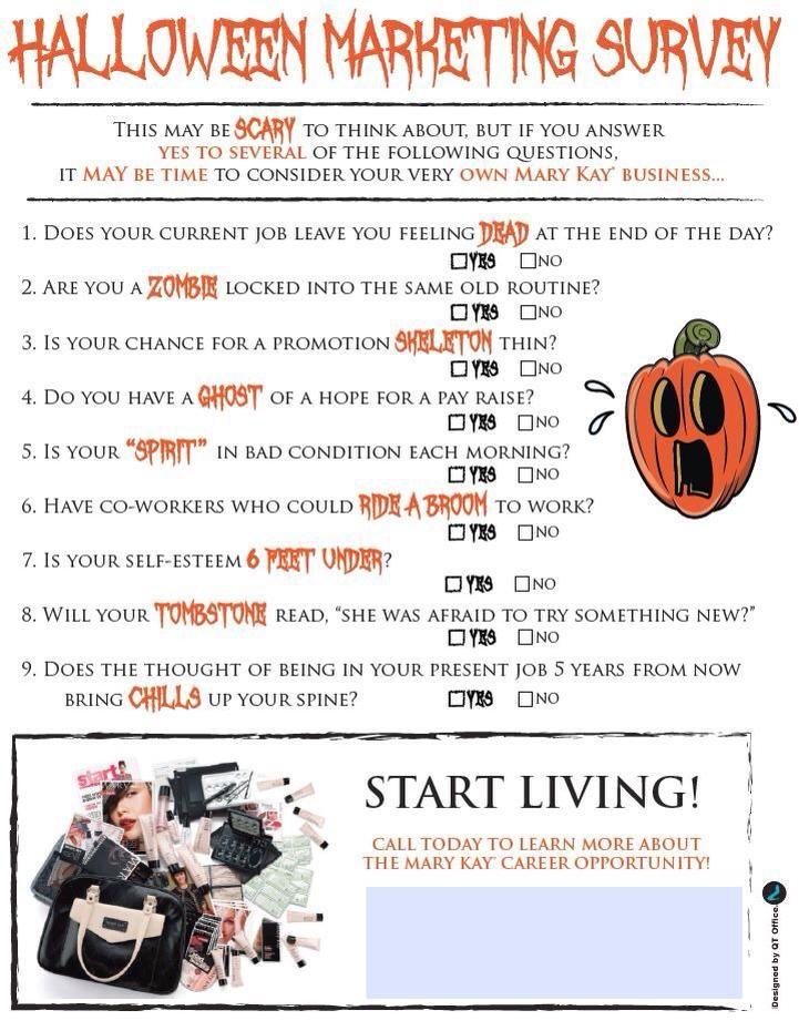 Marketing sheet for the Halloween season