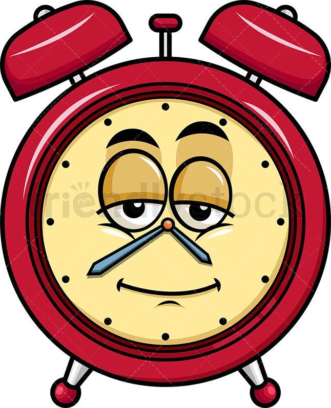 Sleepy Alarm Clock Emoji Cartoon Vector Clipart Friendlystock Emoji Kartun