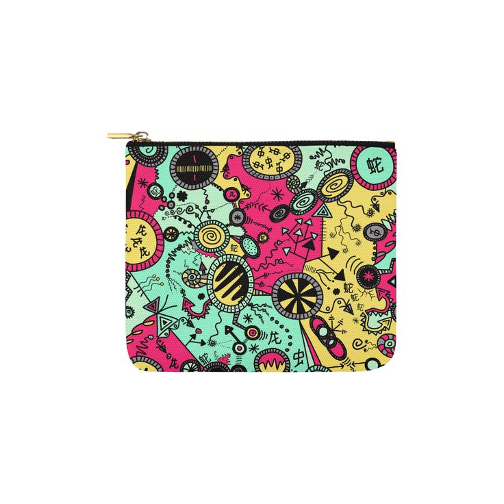 Comic Doodle Illustration in Colour Carry-All Pouch 6