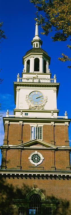 Clock Tower Independence Hall Philadelphia
