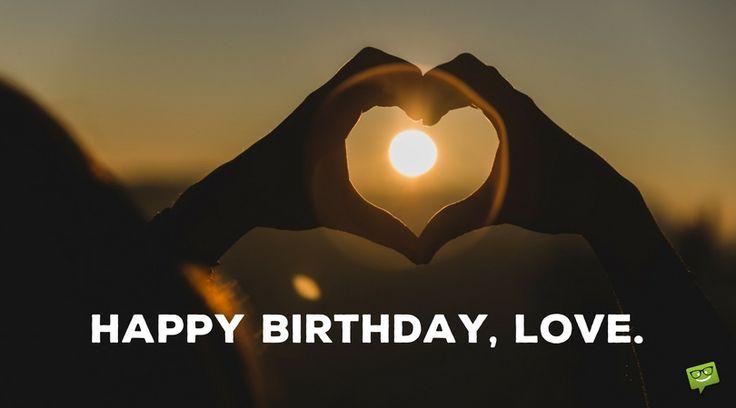 Happy Birthday, love.