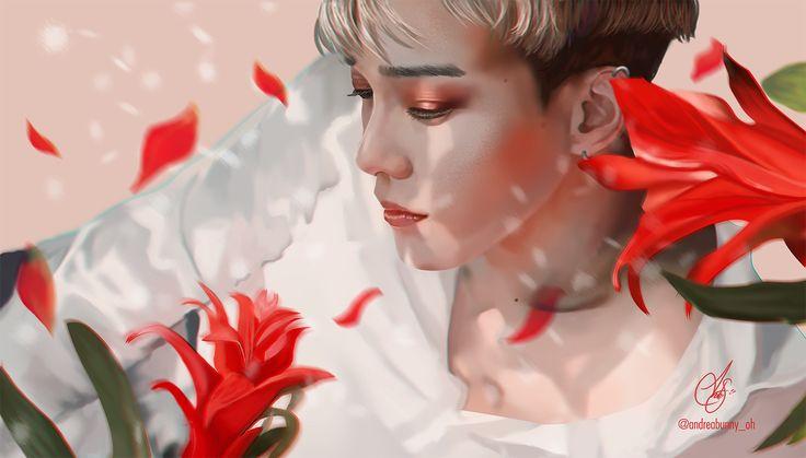 #Chen #EXO #kokobop #TheWar #EXOfanart #ChenFanart #Jongdaefanart #flowers #digitalart