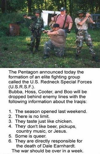 redneck humor | What comes to mind when you think of people who join a Militia? These:
