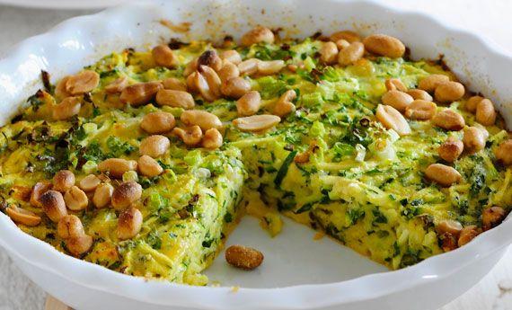 Frittata di zucchine, mentuccia fresca e arachidi. La ricetta di un piatto speciale   Cambio cuoco