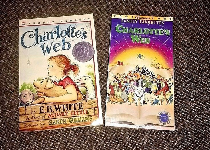 Charlottes Web Book 1980 unread and VHS sealed Paramount vintage new sealed gift
