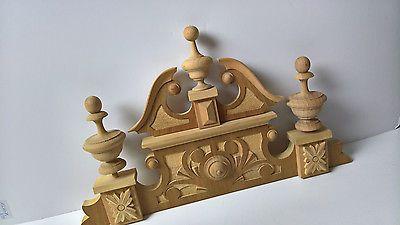 Schrankkrone Holzaufsatz Schrankaufsatz Holz Schrank Stühle Handarbeit