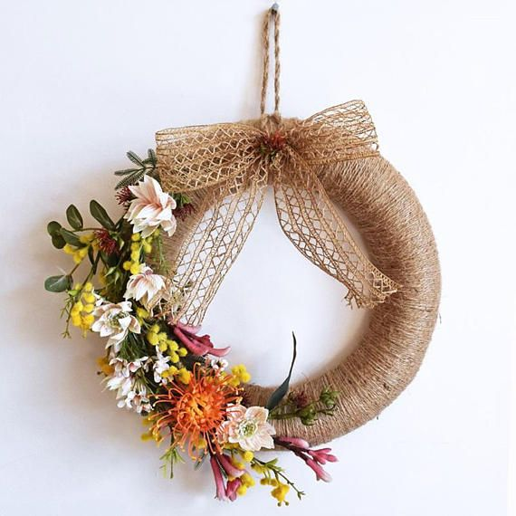 Large Handmade Australian Wildflower Christmas Wreath