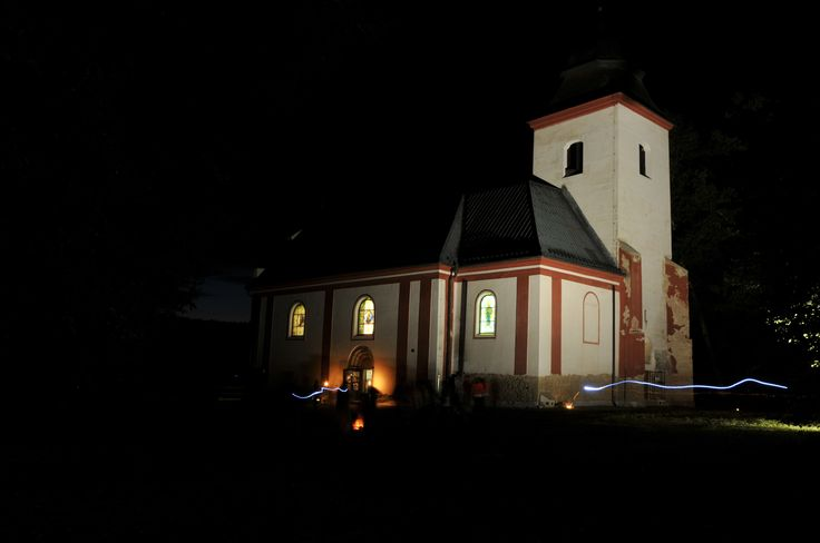 A night church in Zahrádka 2 (The Czech Republic)