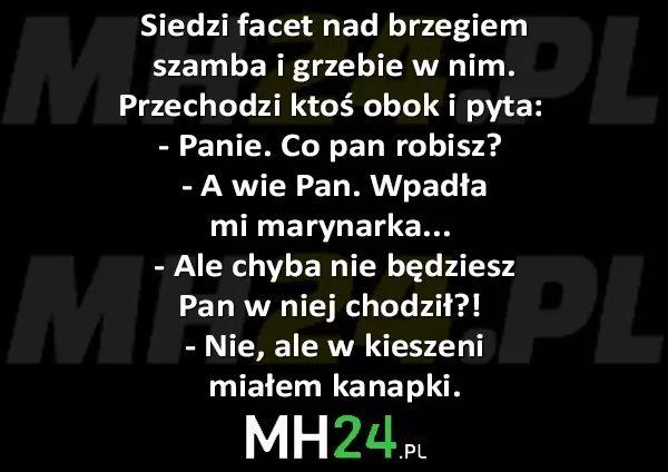 Siedzi facet nad brzegiem szamba i grzebie w nim… – MH24.PL – Demotywatory, Memy, Śmieszne obrazki i teksty, Filmiki, Kawały, Dowcipy, Humor