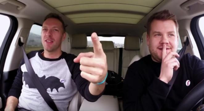 Chris Martin Hitchhikes A Ride From James Corden And Pays With Carpool Karaoke