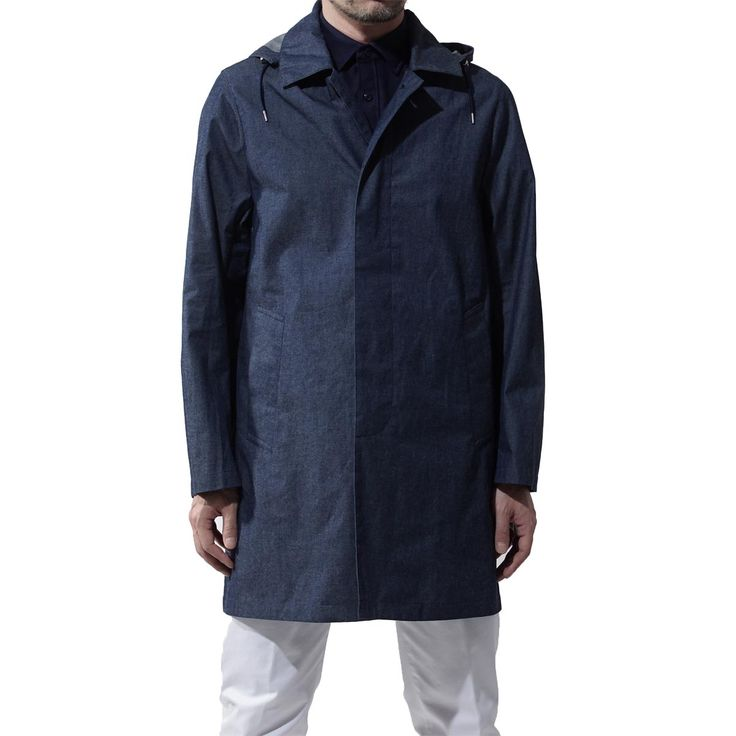 BRANDトラディショナルウェザーウェア/Traditional Weatherwear  ITEMフード付き ステンカラーコート/スプリングコート レインコート/GENTS SELBY HOOD ジェンツ セルビ―フードロング  Item No.selby-hood-g171apfco0026bn-7864-bn02  Colorブルー系 (COL:BLU)