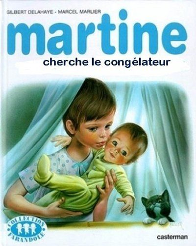 """Autrement appelé Martine met un autocollant """"bébé à bord"""" sur la porte de son congélateur !"""