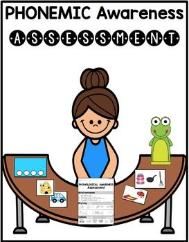 Use this assessment to check your students' phonemic awareness skills. Includes initial sounds, isolating sounds, segmenting, and blending phonemes. I also have a PHONOLOGICAL awareness freebie assessment!To see more phonemic awareness activities, click here.