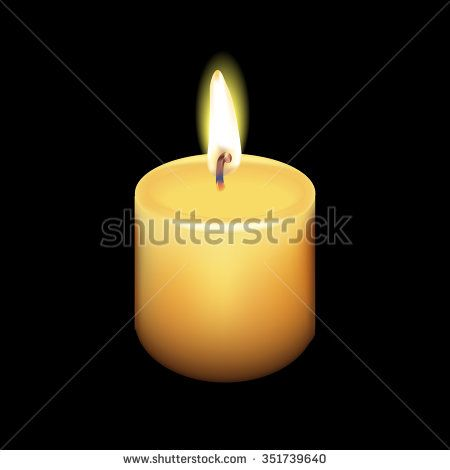 Realistic Candle Vector - stock vector