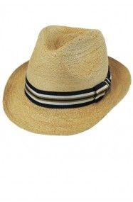 Men's Raffia Fedora   – mens hats