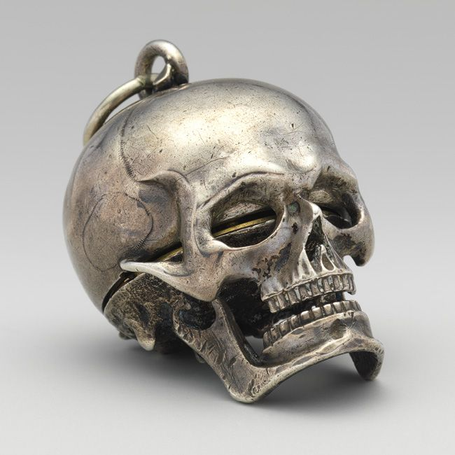 Watch in the form of a skull with movement by Isaac Penard, circa 1640-1650, The Metropolitan Museum of Art