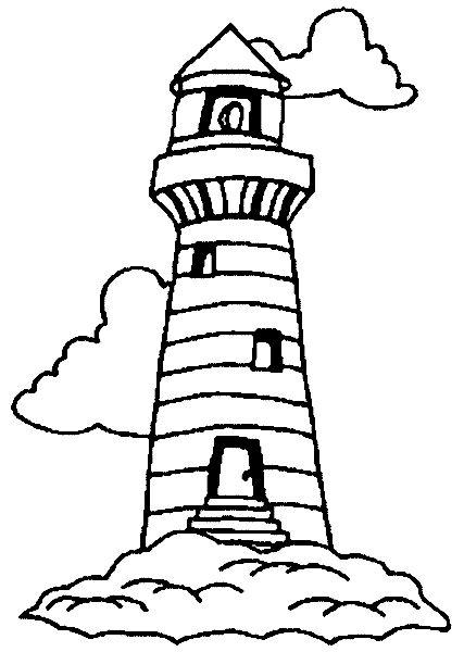 malvorlage  leuchtturm zeichnung zeichenschablonen