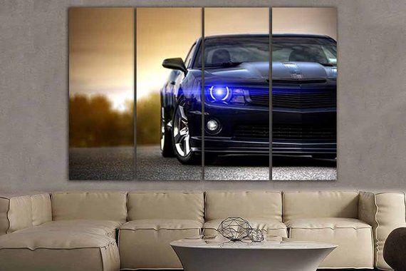 Wall Art Canvas Chevrolet Camaro Chevrolet Wall Decor Etsy Canvas Wall Art Interior Design Gallery Gallery Wall Set