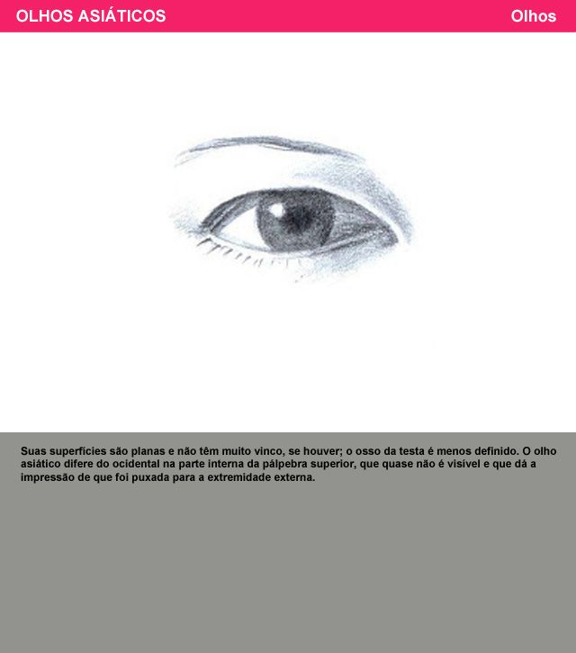 olhos asiáticos