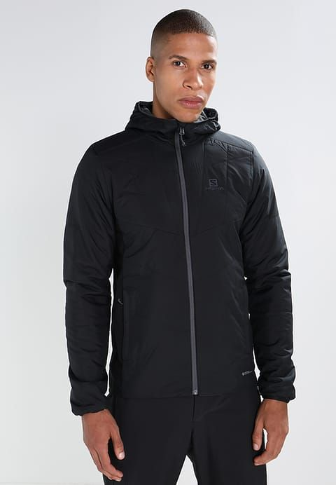 Salomon DRIFTER MID - Outdoor jacket - black/forged iron for £114.74 (25/12/17) with free delivery at Zalando