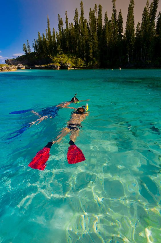 Natural swimming pool at Oro Bay, near the Le Meridien Isle of Pines (Ile des Pins) in New Caledonia
