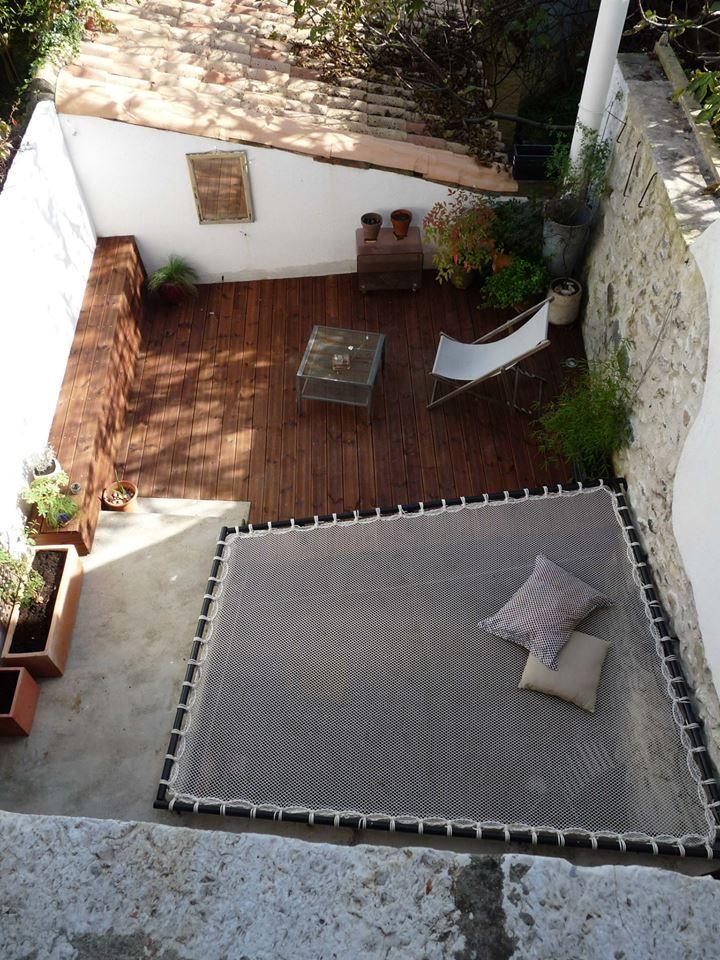 Espace détente sur une terrasse