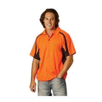 Mens Safety S/S Polo Min 25 - Clothing - Branded Safety Hi Vis Wear