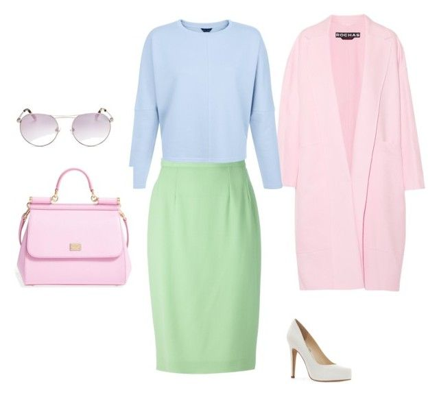 Color Set 4 Остроконечная Триада by elena230-1 on Polyvore featuring мода, Rochas, Guy Laroche, Jessica Simpson, Dolce&Gabbana and Kendall + Kylie