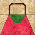 Free Paper-Pieced quilt block pattern for a purse.