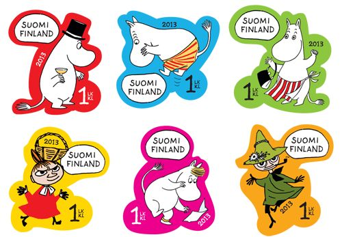 Moomin stamps 2013